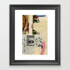 Water Seal Framed Art Print