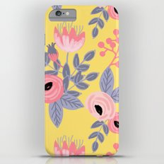 Yellow Floral Pattern iPhone 6s Plus Slim Case