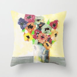 Lemon Lime Throw Pillow