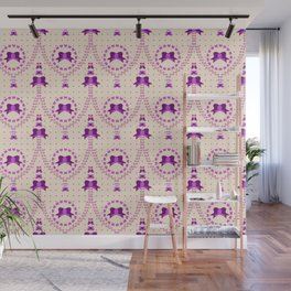 Purple Bows Wall Mural