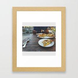 Eat. Framed Art Print