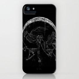 Circle of the Fallen Moon iPhone Case