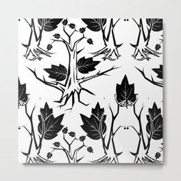 Pattern tree black Metal Print