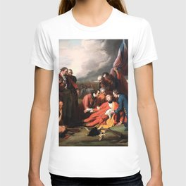 Death of General James Wolfe Oil Painting by Benjamin West T-shirt