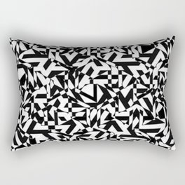 Black & White Perforation Rectangular Pillow