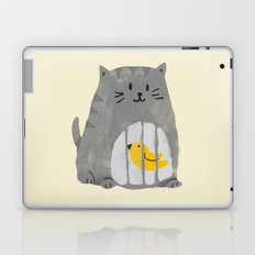 A cat that swallows a bird Laptop & iPad Skin