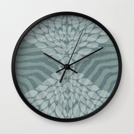 Zebra pattern with leaves Wall Clock
