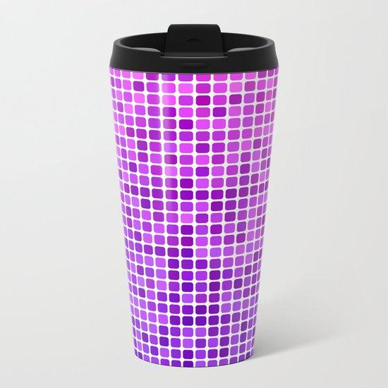Pink purple mosaic Metal Travel Mug
