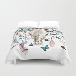 Butterfly Cow Skull Spirit Gazer Duvet Cover