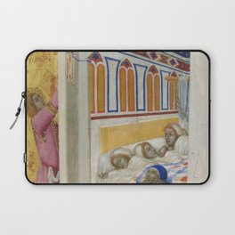Ambrogio Lorenzetti - The Charity of St Nicholas of Bari Laptop Sleeve