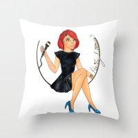 paramore Throw Pillows featuring Hailey W.  by Astha Karki
