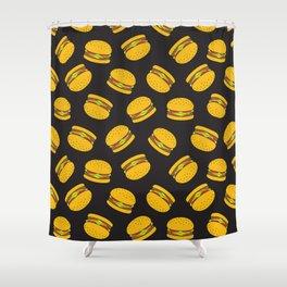 Burger Pattern  Everett co Shower Curtain