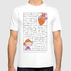 labyrinth Mens Fitted Tee White MEDIUM