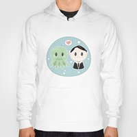 lovecraft Hoodies featuring Lovecraft and Chtulhu by Cloudsfactory
