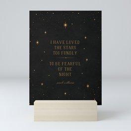 I have loved the stars Mini Art Print