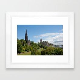 colourful edinburgh Framed Art Print