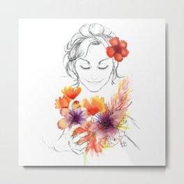 Close your eyes and smell the flowers | Cerrar los ojos y oler las flores Metal Print