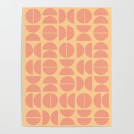Burano in Peach Poster