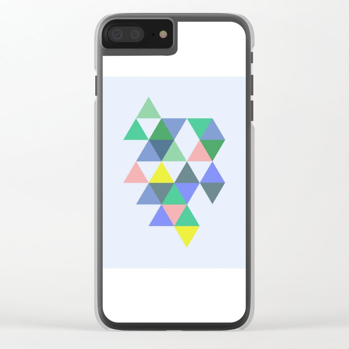 Abstract #702 Clear iPhone Case