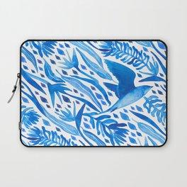 Blue Bird of Paradise Laptop Sleeve