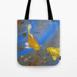 Pair of Golden Koi Tote Bag