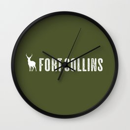 Deer: Fort Collins, Colorado Wall Clock