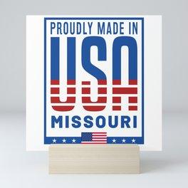 Missouri USA Flag Mini Art Print