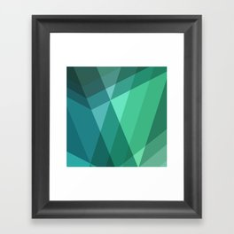Fig. 046 Mint, Sea Green, Blue & Teal Geometric Framed Art Print