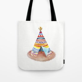 Tepee watercolor Tote Bag