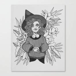 Cute Witch Canvas Print