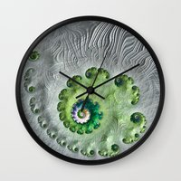 oasis Wall Clocks featuring Oasis by Steve Purnell