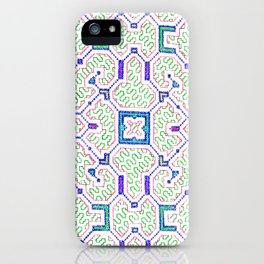 The Song to Support Spiritual Growth - Traditional Shipibo Art - Indigenous Ayahuasca Patterns iPhone Case