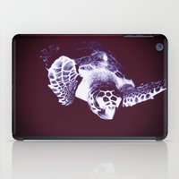 sea turtle iPad Cases featuring Sea Turtle by DistinctyDesign