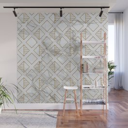 Marble and gold geometric Wall Mural