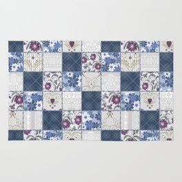 Patchwork  floral lace pattern background Rug