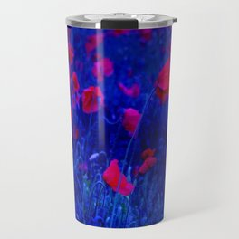 Red in Blue Travel Mug