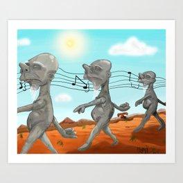 """Dr. Seuss' """"Michael Stipe""""  Art Print"""