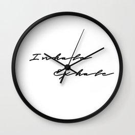 Inhale Exhale Wall Clock
