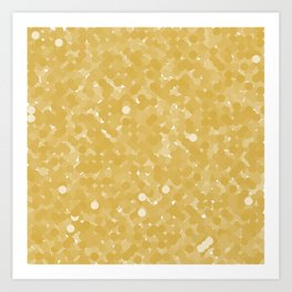 Spicy Mustard Polka Dot Bubbles Art Print