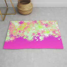 paint splatter on gradient pattern pgoi Rug