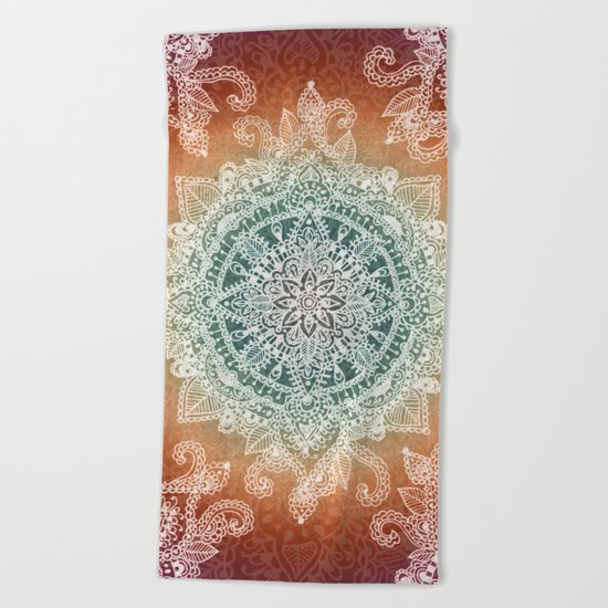 Burning With Desire Beach Towel