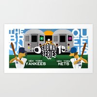 yankees Art Prints featuring Subway Series 2015 by Mountain Top Designs