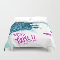 barbie Duvet Covers featuring Woman Power Barbie by Gigglebox