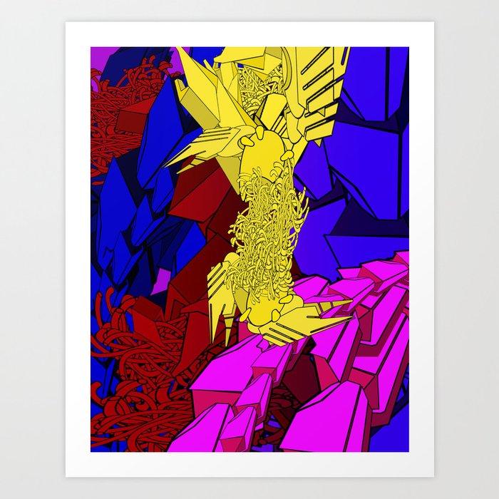 AUTOMATIC WORM 3 Art Print
