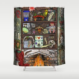 Creepy Cabinet of Curiosities Shower Curtain