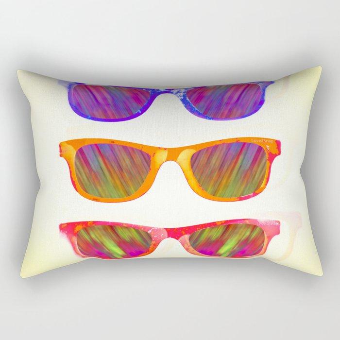 Sunglasses In Paradise Rectangular Pillow