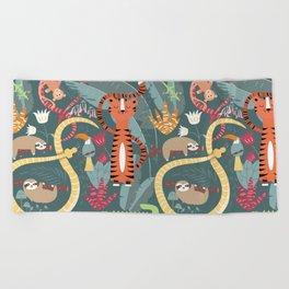 Rain forest animals 003 Beach Towel
