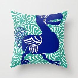 """William De Morgan """"Dodo bird"""" 1. Throw Pillow"""