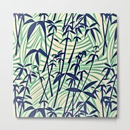 RETRO TROPICAL TREES Metal Print