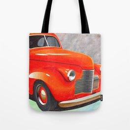 Vintage Orange Hot Rod by Liane Wright Tote Bag